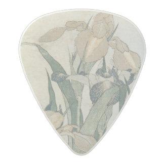 Iris Flowers and Grasshopper, c.1830-31 Acetal Guitar Pick