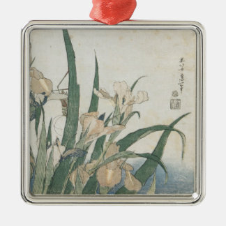 Iris Flowers and Grasshopper, c.1830-31 Christmas Ornament