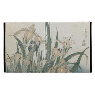 Iris Flowers and Grasshopper, c.1830-31 iPad Folio Case