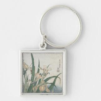 Iris Flowers and Grasshopper, c.1830-31 Key Ring