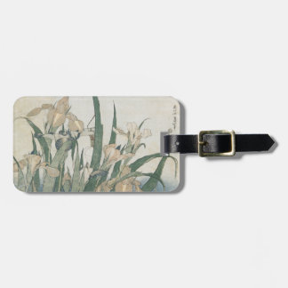Iris Flowers and Grasshopper, c.1830-31 Luggage Tag