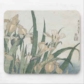 Iris Flowers and Grasshopper, c.1830-31 Mouse Pad
