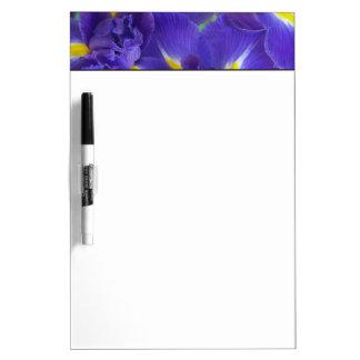 Iris flowers dry erase board