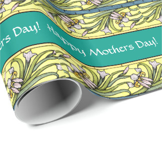 Iris Flowers Mothers Day Wrapping Paper