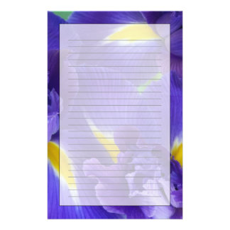 Iris flowers stationery