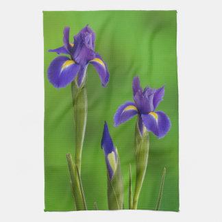 Iris Flowers Tea Towel