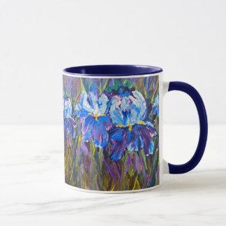 """Iris Garden Flowers"" Floral Mug"