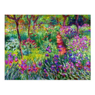 Iris Garden Impressionism Bridal Postcard
