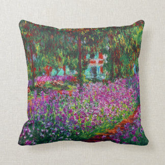 Iris Garden in Giverny Monet Fine Art Cushion
