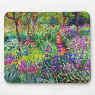 Iris Garden in Giverny Mousepad