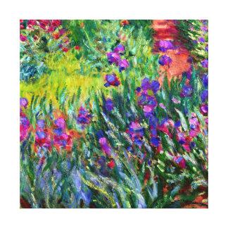 Iris Garden Monet Brush Strokes Gallery Wrapped Canvas