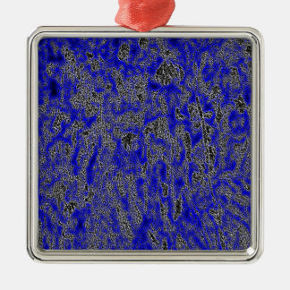 IRIS GARDEN ON A MOONLESS NIGHT Silver-Colored SQUARE DECORATION