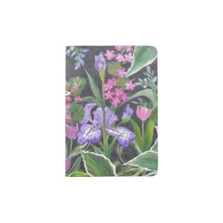Iris Garden Passport Holder