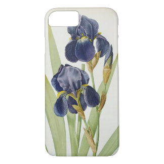 Iris Germanica, from `Les Liliacees', 1805 iPhone 8/7 Case