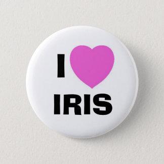 IRIS, I 6 CM ROUND BADGE