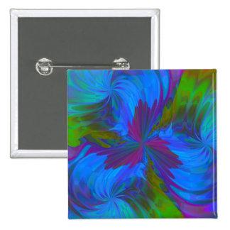 Iris in Blue 15 Cm Square Badge