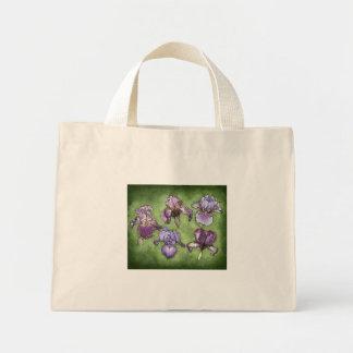 Iris in Purple Mini Tote Bag