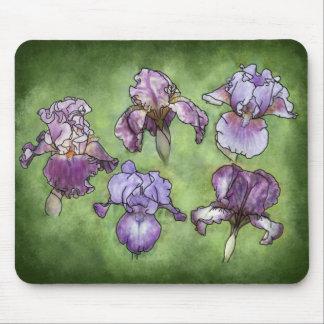 Iris in Purple Mouse Pad