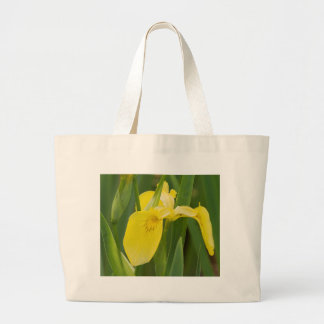 iris in the garden large tote bag