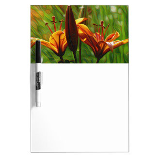 Iris, Lilly, Lily, DeepDream style Dry-Erase Board