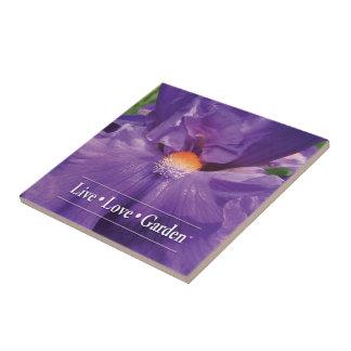 "Iris Live Love Garden 4.25"" Ceramic Photo Tile"