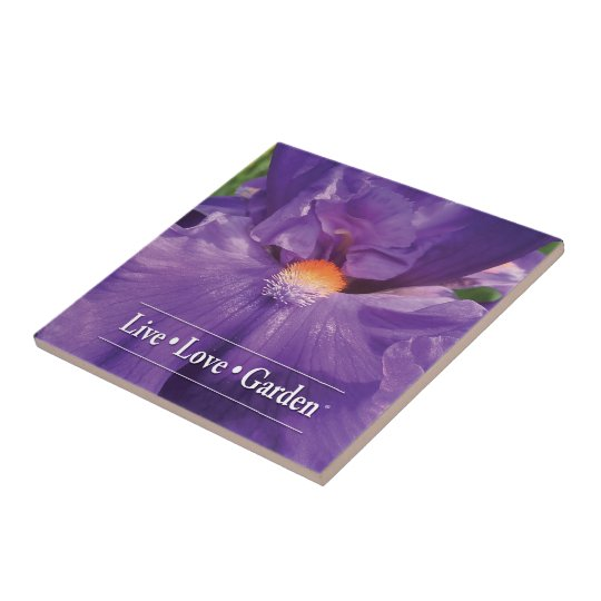 "Iris Live Love Garden 4.25"" Ceramic Photo Tile"