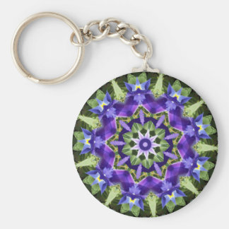 Iris Mandala Keychain