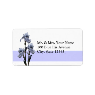 Iris of Blue Address Label