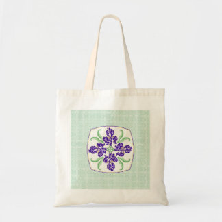 Iris on Celadon Bags