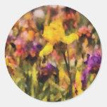 Iris - Orchestra Round Stickers
