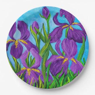 Iris paper plate