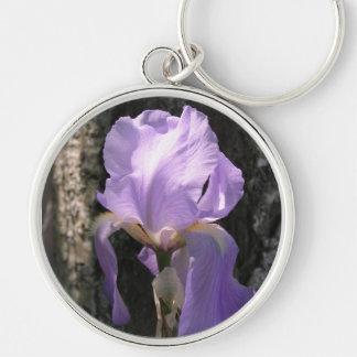 Iris Purple Keychain