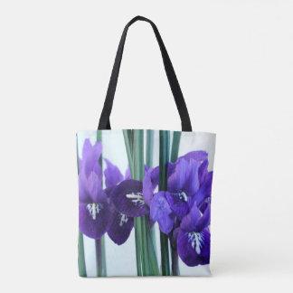 Iris Reticulata All Over Print Tote Bag