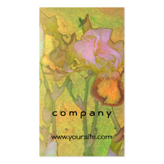Iris Row Yellow Orange 2 Pack Of Standard Business Cards