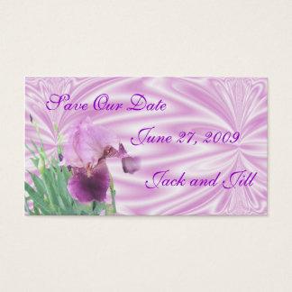 Iris Save the Date card-customize Business Card