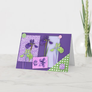 Iris Scrapbook Birthday Card Large Print