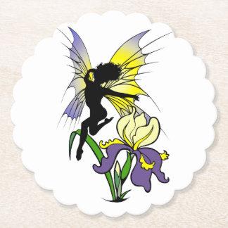 Iris Shadow Fairy Paper Coaster