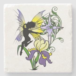 Iris Shadow Fairy Stone Coaster