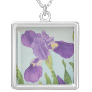Iris Silver Plated Necklace