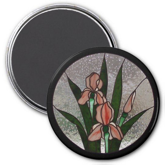 Iris Stained Glass Magnet