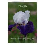 Iris Sympathy Thank You Card