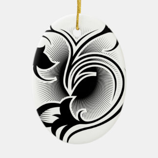 Iris tattoo christmas ornament