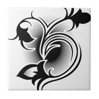 Iris tattoo small square tile