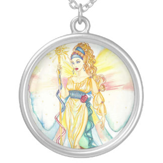Iris, The Greek Goddess of the Rainbow Silver Plated Necklace