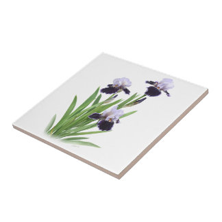 Iris Trio Small Square Tile