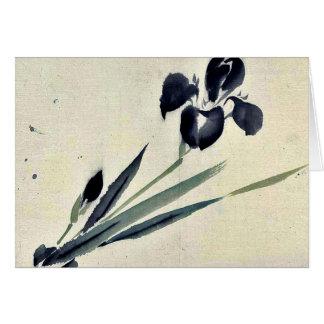 Iris? Ukiyo-e. Card