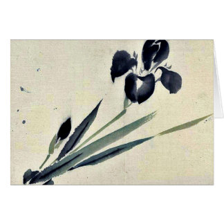 Iris? Ukiyo-e. Greeting Card