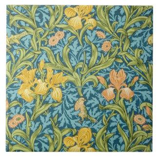 Iris wallpaper designed 1887 large square tile