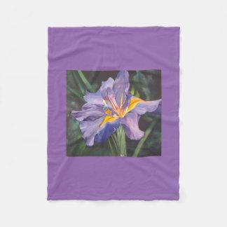 Iris watercolor fleece blanket