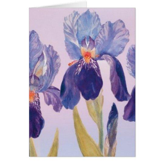 Iris Watercolor Greeting Card with Envelope